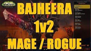 Bajheera - ARMS WARRIOR 1v2 vs MAGE/ROGUE - WoW 7.3 Legion Rank 1 Warrior PvP