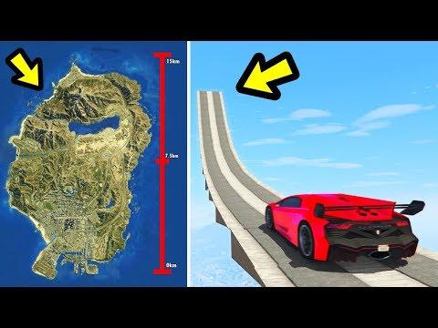 Can a car jump the entire GTA 5 Map?