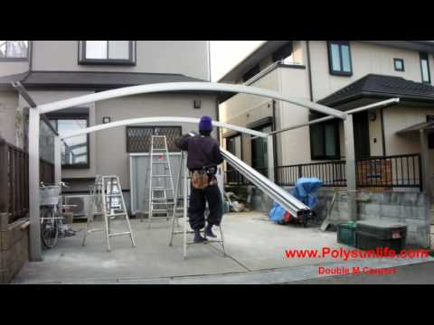 SUN LIFE Double M CARPORT Installation in Japan