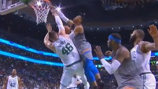 Russell Westbrook Almost Destroys Aron Baynes with Near Dunk! thumbnail