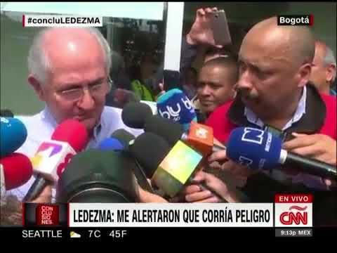 CNN: Declaraciones de Antonio Ledezma tras fugarse de Venezuela