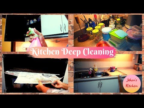 Kitchen deep cleaning | How to maintain white cabinets | Easy cleaning | Cabinets cleaning | 2019