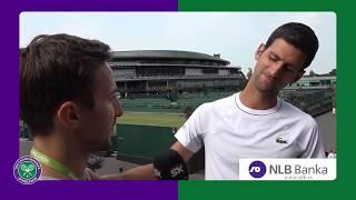 Opušten 10-minutni Razgovor sa Novakom Đokovićem pre Početka Vimbldona 2018.   SPORT KLUB Tenis