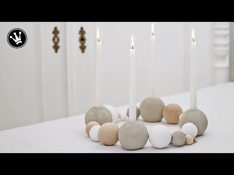 ideen mit anleitung adventskranz aus kugeln selber machen bastelanleitungen f r einen modernen. Black Bedroom Furniture Sets. Home Design Ideas