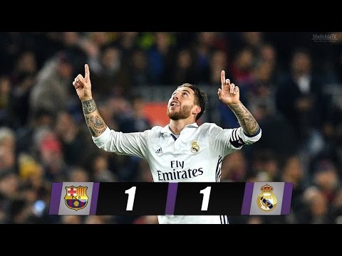 fair play between the players of Barcelona and Real Madrid Befor & after the clasico 03/12/2016