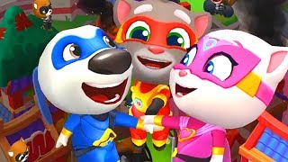 Talking Tom Hero Dash Tom,Angela,Ben,Hank,Ginger Friends Walkthroug...