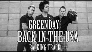 Green Day Back In The Usa BACKING TRACK Guitar