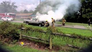 Pickup Truck Fire On Land Of Promise In Chesapeake
