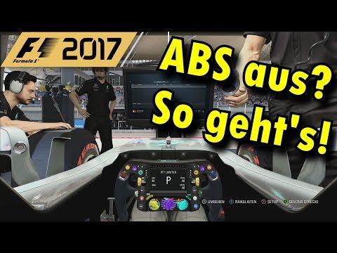 F1 2017 FAHRSCHULE   FAHRHILFE ABS AUSSCHALTEN (TUTORIAL/GUIDE)