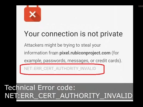 ERR_CERT_AUTHORITY_INVALID: Website has an SSL Error in chrome Android