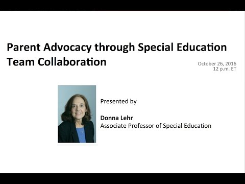 Parent Advocacy through Special Education Team Collaboration