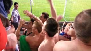 ROYAL MOUSCRON PERUWELZ - R. ANTWERP FC. 07/09/13 Ambiance dans la tribune