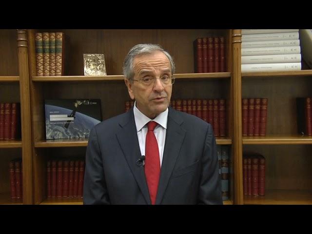 Σαμαράς Αντώνης  Χαιρετισμός στο 1o Διεθνές Forum Διπλωματίας Καλαμάτας