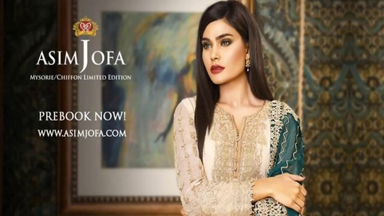 4a62e0b54e Latest Arrival Asim Jofa Mysorie Chiffon Collection 2018 For Girls ...