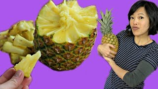 How to Pull Apart a PINEAPPLE | Pineapple Peeling - Fruity Fruits