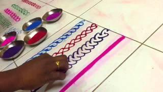 Magic finger Rangoli by Seema Tammewar Aurangabad
