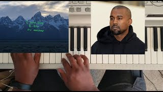 KANYE WEST - I THOUGHT ABOUT KILLING YOU (YE ALBUM) PIANO TUTORIAL