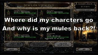 Diablo 2: Display bug - Deleting old deleted characters to get your characters back.