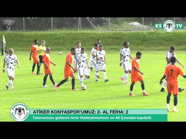 Atiker Konyaspor'umuz özel maçta Al Feiha ile 2-2 berabere kaldı