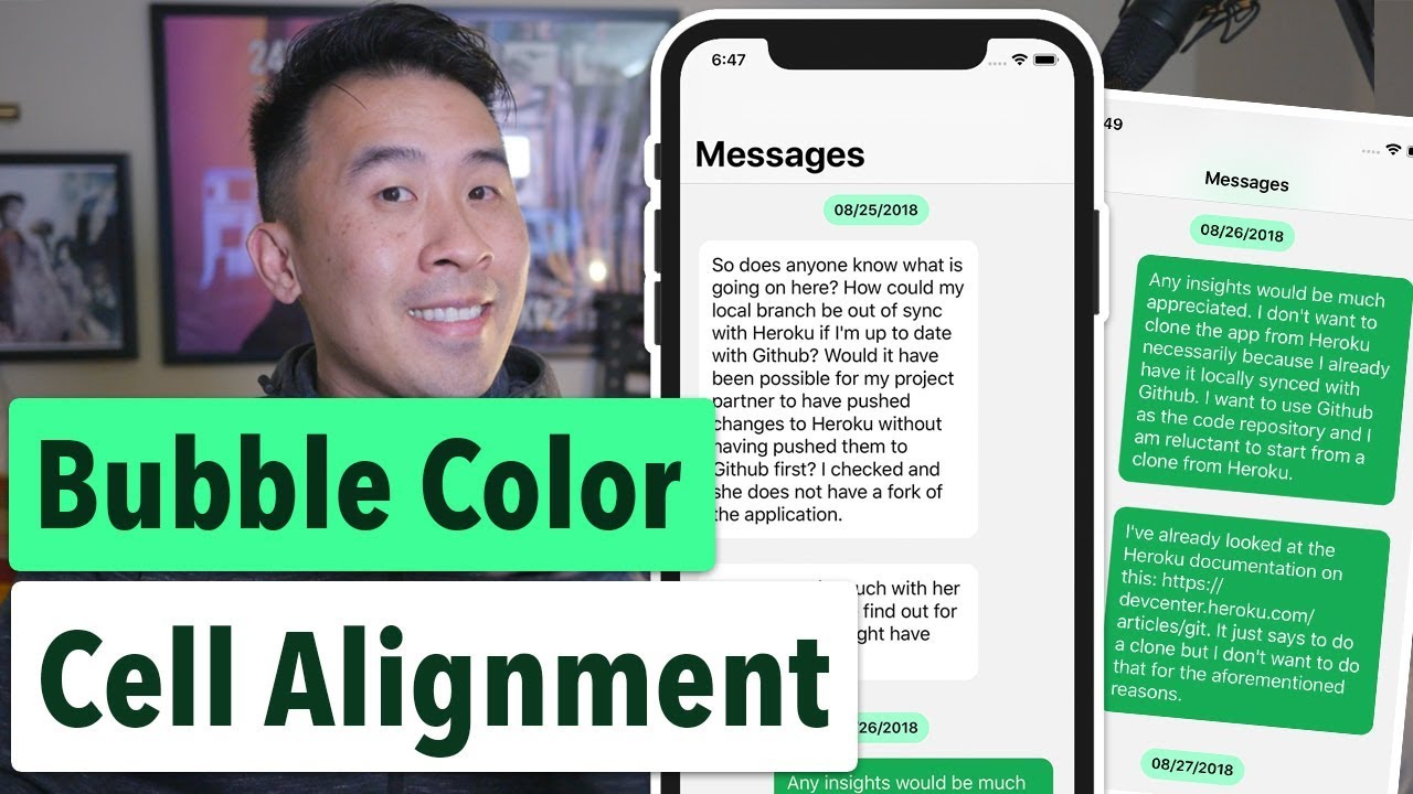 Swift Grouped Messages: Changing Bubble Color and Alignment (Ep 2)