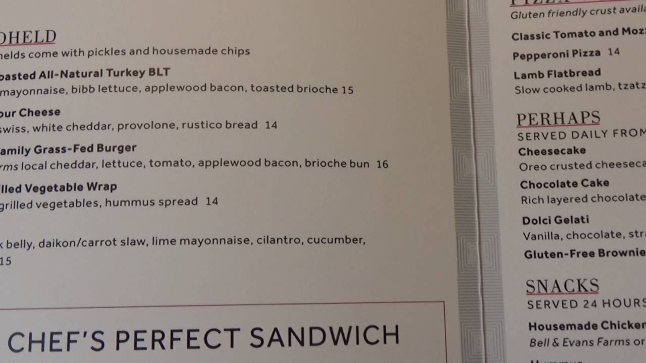 Marriot Marquis Washington DC In Room Dining Menu (Room Service . Part 53