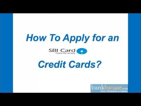 How To Apply For An Sbi Credit Card