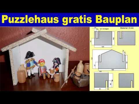 Puppenhaus Aus Holz Aus Puzzleteilen Selber Bauen
