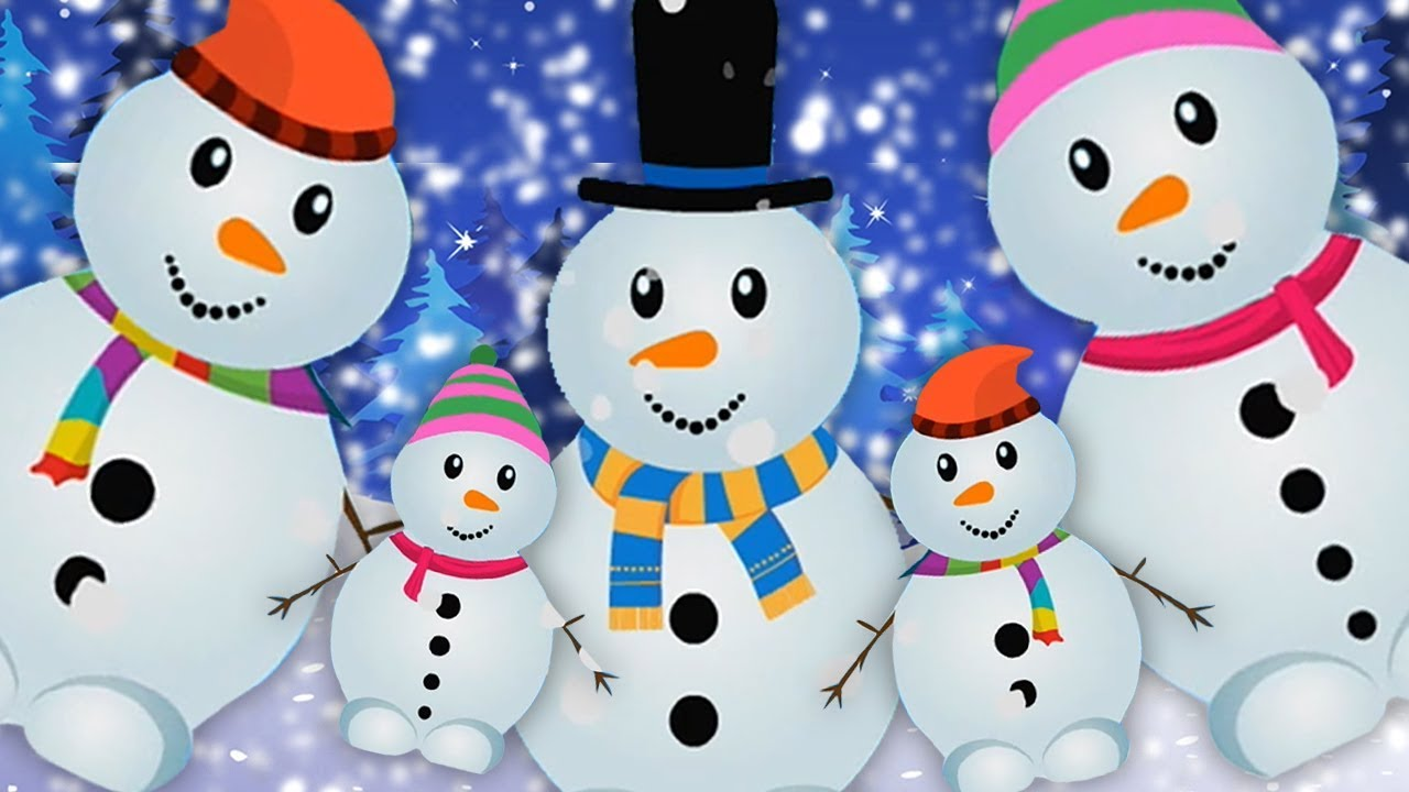 Bonhomme Neige Doigt Famille Bonhomme Neige Pour Enfants Chanson Noël Snowman Finger Family