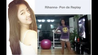 Middle School Jinhee Dancing to Rihanna- Pon de Replay !!