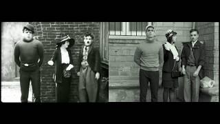 """Пересъемка эпизода из фильма """"Малыш"""" Чарли Чаплина"""