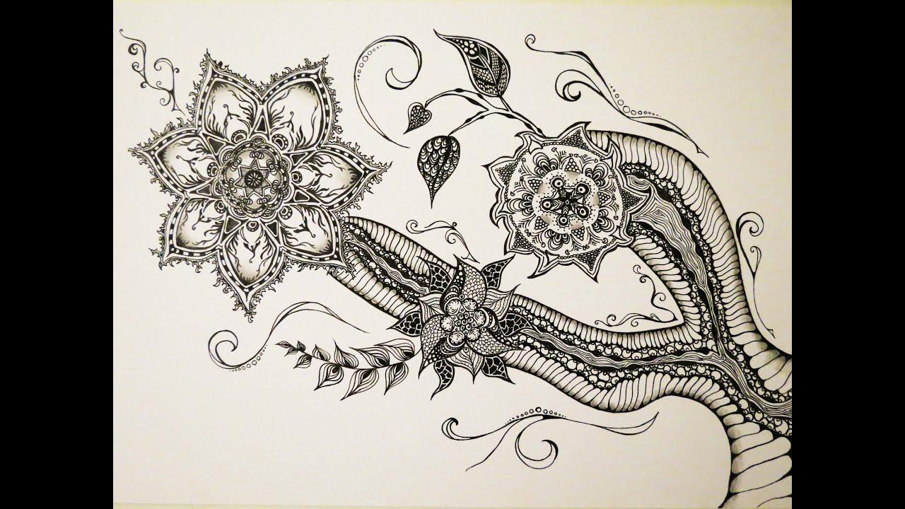 Zentangle Inspired Art 1 Youtube
