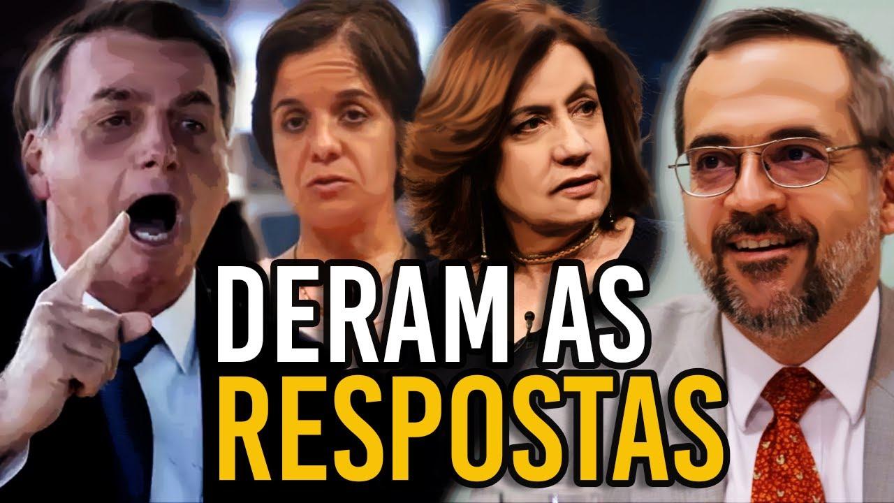 """Bolsonaro e Weintraub RESPONDEM aos """"ATAQUES"""" da MÍDIA"""
