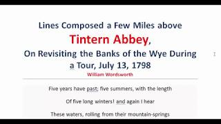Tintern Abbey by William Wordsworth   Part-2   অনার্স ২য় বর্ষ   বাংলা লেকচার   Bangla Lecture