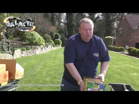 Fireworks display set up by Nigel from Galactic Fireworks