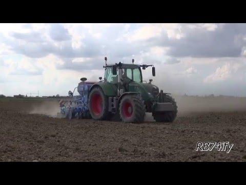 Rice Seed Drilling 2016 - FENDT 724 & LEMKEN Solitair 9/Heliodor 9
