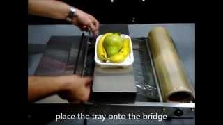 Food Tray Wrapping Machine with Stretch Film