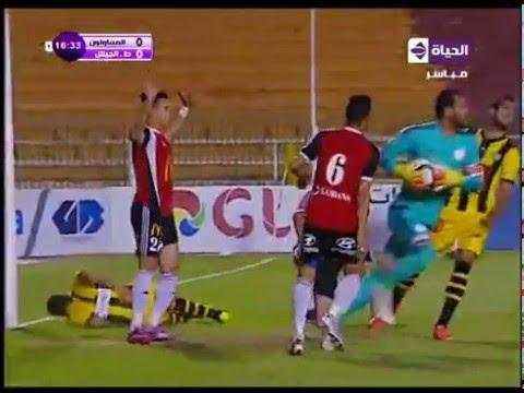 اغرب فرصة في الدوري المصري 2016 | الجيش والمقاولون
