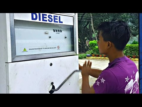 Hand pumping Fuel station in Nepal
