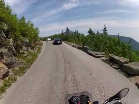 MT WASHINGTON AUTO ROAD ON MOTORCYCLE