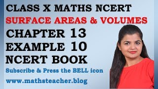 Chapter 13 Surface Areas and Volumes Example 10 Class 10 Maths NCERT