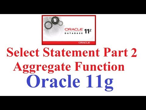 SQL In Oracle 11g Tutorial #11: Aggregate Function(MAX,MIN,SUM,AVG,STDDEV,VARIANCE) In SQL