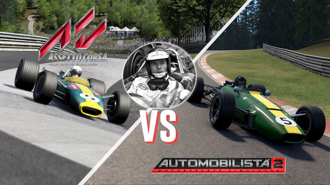 Formula 1 Automobilista 2 vs Assetto Corsa 2021 Nordschleife
