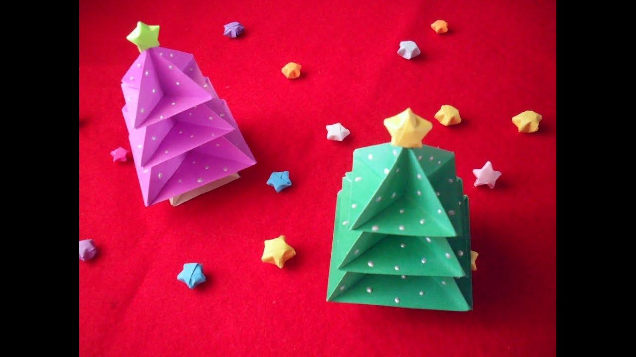 Navidad pinito navide o origami youtube - Arbol de navidad de origami ...