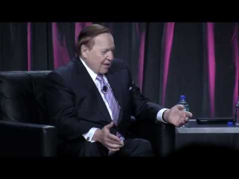 Sheldon Adelson on gaming, life at G2E; interviewed by Roger Gros, journalist 10/1/14