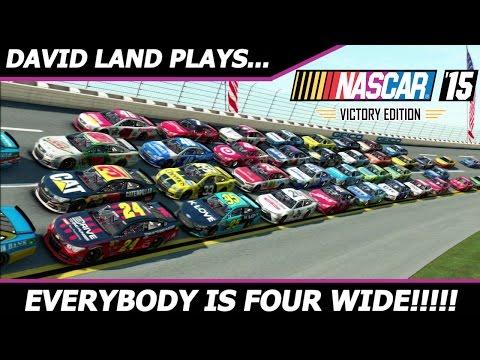 EVERYBODY IS 4 WIDE!!!! [NASCAR 15 BONUS Race at Talladega]