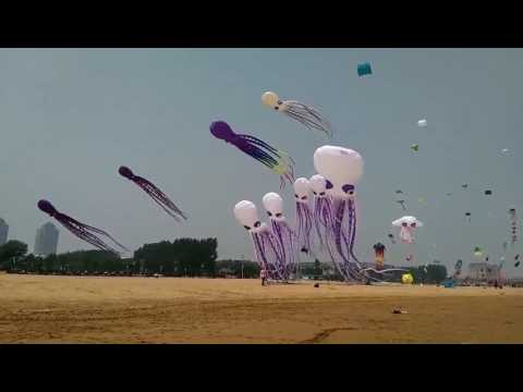 Kite festival at East Beach Port,Tianjin,China 3/3