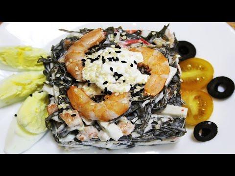 салат из морской капусты с крабовыми палочками пошаговый рецепт