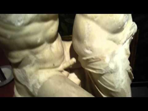 Erotic art of ancient Pompei intercorss statue