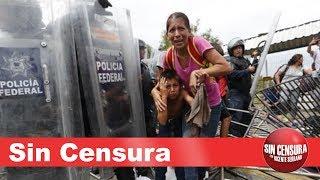 EN VIVO el drama de la caravana de migrantes. EPN peor que Trump y racistas también en Méx10/22/2018