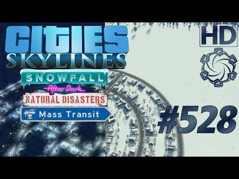 """Cities: Skylines Snowfall Let's Play #528 """"AB-Kreuz Süd"""" german deutsch HD PC"""